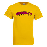 Gold T Shirt-Brooklyn College Arched