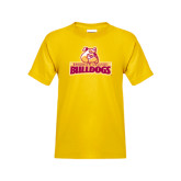 Youth Gold T Shirt-Brooklyn College Athletic Mark