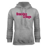 Grey Fleece Hoodie-Brooklyn College