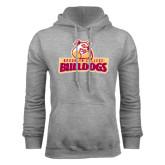 Grey Fleece Hoodie-Brooklyn College Athletic Mark