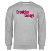 Grey Fleece Crew-Brooklyn College