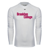 Under Armour White Long Sleeve Tech Tee-Brooklyn College