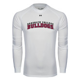 Under Armour White Long Sleeve Tech Tee-Bulldogs Arched