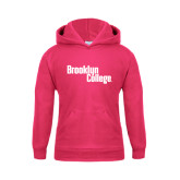 Youth Raspberry Fleece Hoodie-Brooklyn College