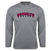 Performance Steel Longsleeve Shirt-Brooklyn College Arched