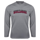 Performance Steel Longsleeve Shirt-Bulldogs Arched