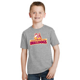Youth Grey T-Shirt-Brooklyn College Athletic Mark