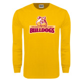 Gold Long Sleeve T Shirt-Brooklyn College Athletic Mark