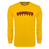 Gold Long Sleeve T Shirt-Brooklyn College Arched