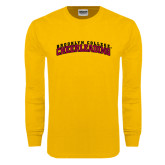 Gold Long Sleeve T Shirt-Cheerleading