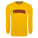 Gold Long Sleeve T Shirt-Tennis