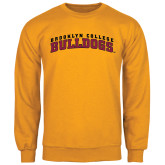Gold Fleece Crew-Bulldogs Arched