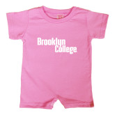 Bubble Gum Pink Infant Romper-Brooklyn College