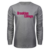 Grey Long Sleeve T Shirt-Brooklyn College