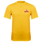 Performance Gold Tee-Brooklyn College Athletic Mark