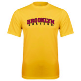 Performance Gold Tee-Brooklyn College Arched