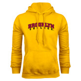 Gold Fleece Hoodie-Brooklyn College Arched