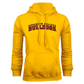 Gold Fleece Hoodie-Bulldogs Arched