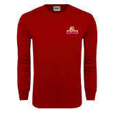 Cardinal Long Sleeve T Shirt-Brooklyn College Athletic Mark