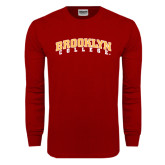 Cardinal Long Sleeve T Shirt-Brooklyn College Arched