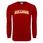 Cardinal Long Sleeve T Shirt-Bulldogs Arched