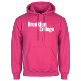 Fuchsia Fleece Hoodie-Brooklyn College
