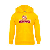 Youth Gold Fleece Hoodie-Brooklyn College Athletic Mark