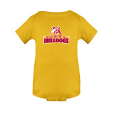 Gold Infant Onesie-Brooklyn College Athletic Mark