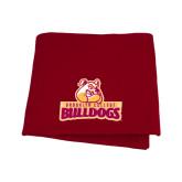Cardinal Sweatshirt Blanket-Brooklyn College Athletic Mark