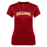 Ladies Syntrel Performance Cardinal Tee-Bulldogs Arched