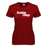 Ladies Cardinal T Shirt-Brooklyn College