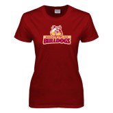 Ladies Cardinal T Shirt-Brooklyn College Athletic Mark