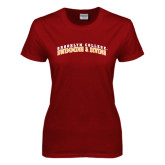 Ladies Cardinal T Shirt-Swimming and Diving