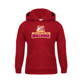 Youth Cardinal Fleece Hoodie-Brooklyn College Athletic Mark
