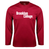 Performance Cardinal Longsleeve Shirt-Brooklyn College