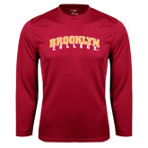 Performance Cardinal Longsleeve Shirt-Brooklyn College Arched