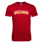 Next Level SoftStyle Cardinal T Shirt-Bulldogs Arched