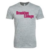 Next Level SoftStyle Heather Grey T Shirt-Brooklyn College