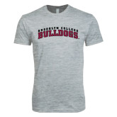 Next Level SoftStyle Heather Grey T Shirt-Bulldogs Arched