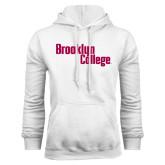 White Fleece Hoodie-Brooklyn College