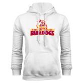 White Fleece Hoodie-Brooklyn College Athletic Mark