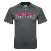 Under Armour Carbon Heather Tech Tee-Brooklyn College Arched