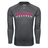 Under Armour Carbon Heather Long Sleeve Tech Tee-Brooklyn College Arched
