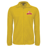 Fleece Full Zip Gold Jacket-Brooklyn College Athletic Mark