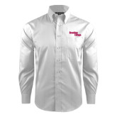 Red House White Dobby Long Sleeve Shirt-Brooklyn College