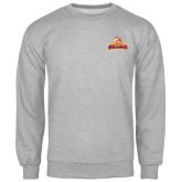Grey Fleece Crew-Brooklyn College Athletic Mark