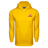 Under Armour Gold Performance Sweats Team Hoodie-Brooklyn College Athletic Mark