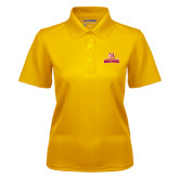 Ladies Gold Dry Mesh Polo-Brooklyn College Athletic Mark