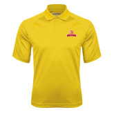 Gold Textured Saddle Shoulder Polo-Brooklyn College Athletic Mark