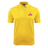 Gold Dry Mesh Polo-Brooklyn College Athletic Mark